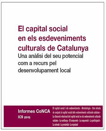El capital social en els esdeveniments culturals de Catalunya. Una anàlisi del seu potencial com a recurs pel desenvolupament local